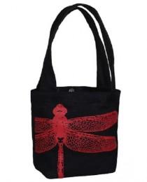 Fair Trade - Bouquet dragonfly bag black
