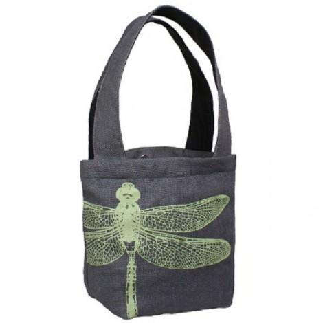 Fair Trade - Bouquet dragonfly bag grey